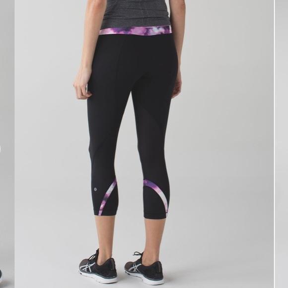 c63f67edf8 lululemon athletica Pants | Lululemon Run Inspire Crop Ii In Black ...